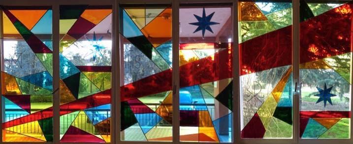 Le vetrate, nel suo insieme