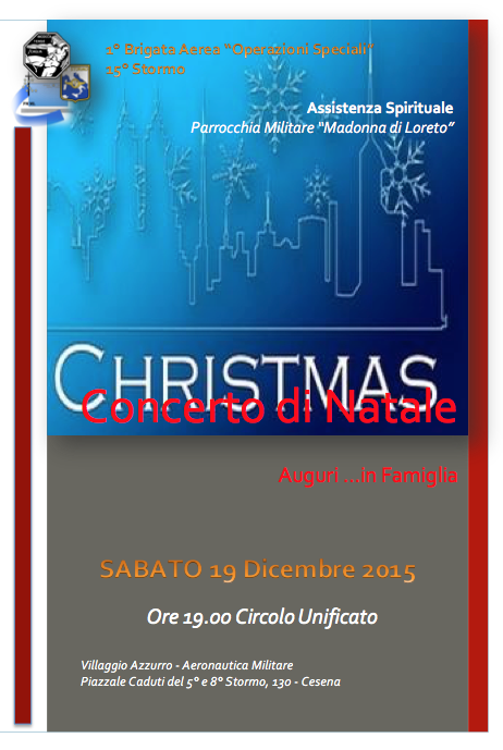 Locandina Concerto di Natale 2015