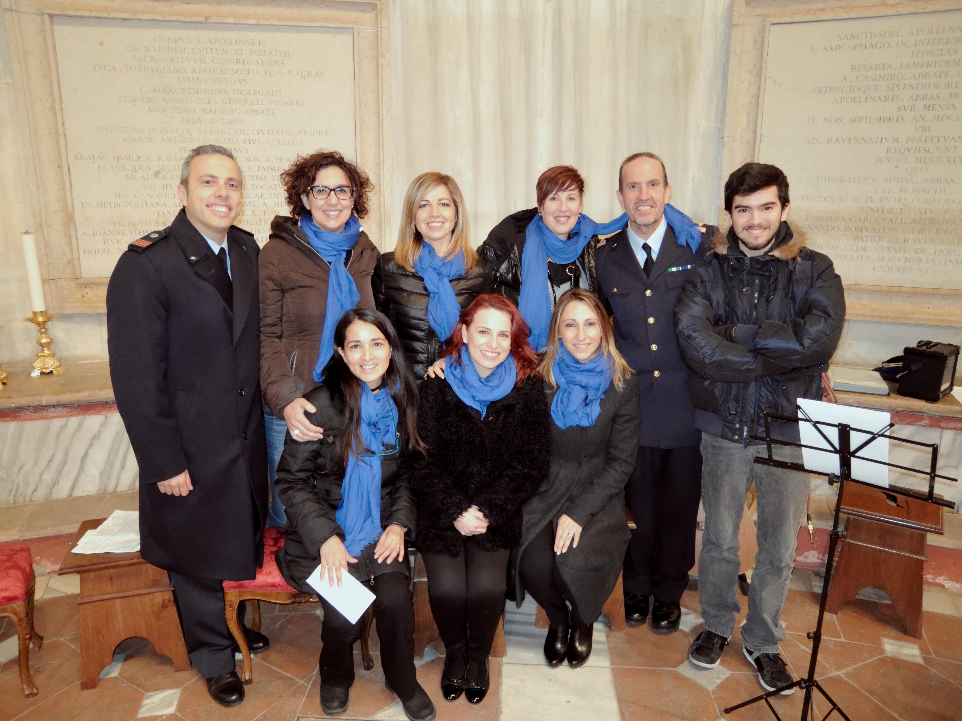 il Coro per il precetto Pasquale a Ravenna 2018