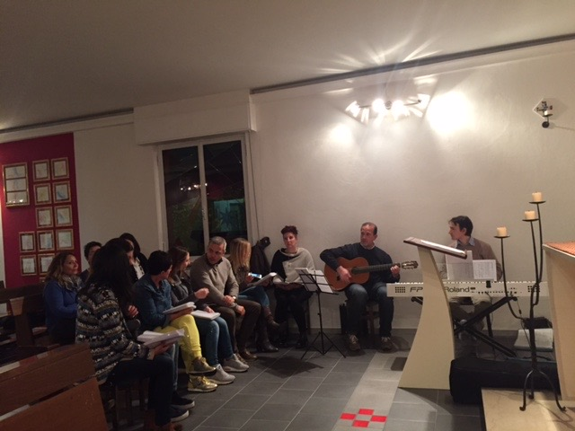 Prove coro con amici di Gambettola
