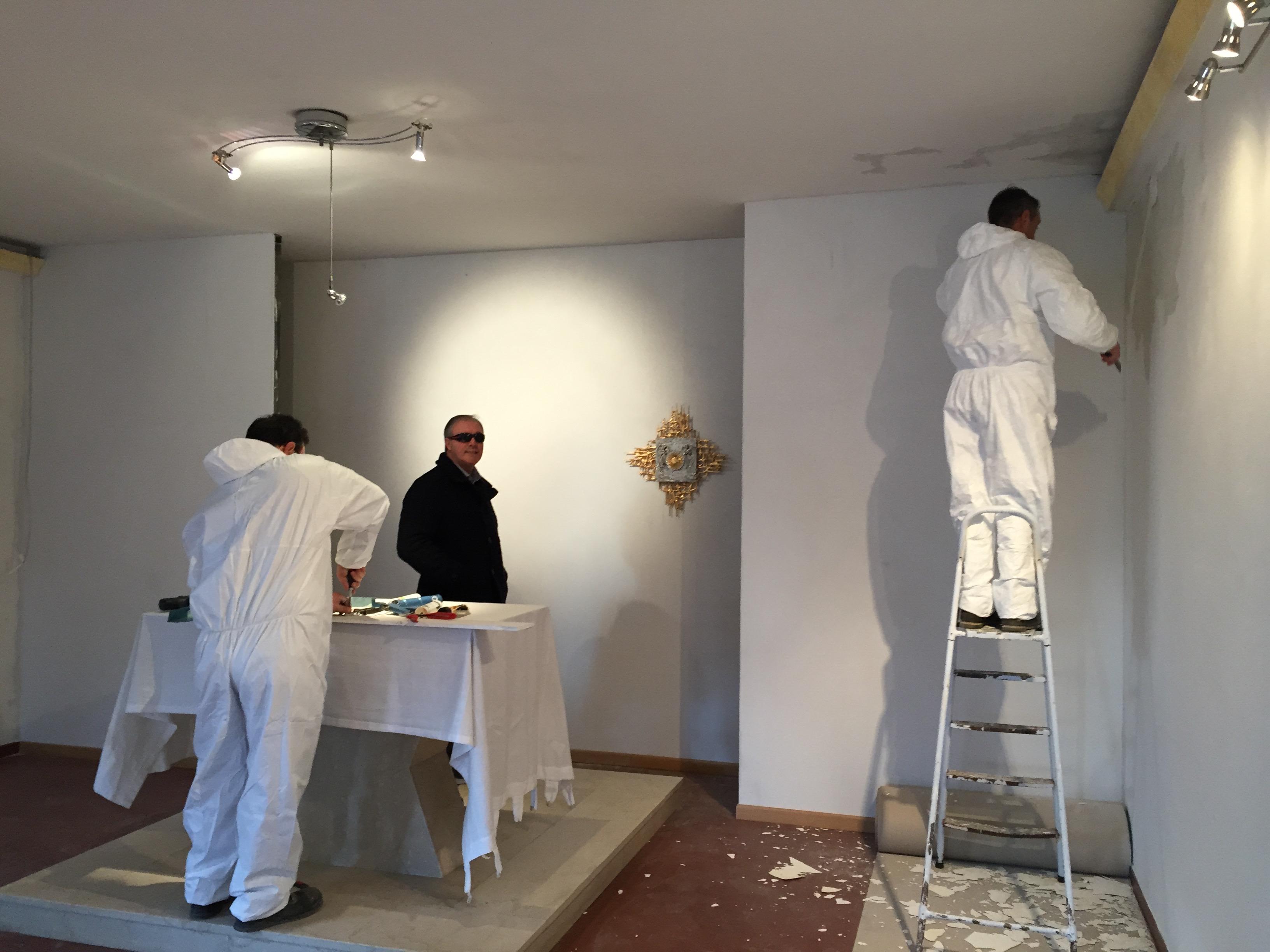 lavori interno chiesa