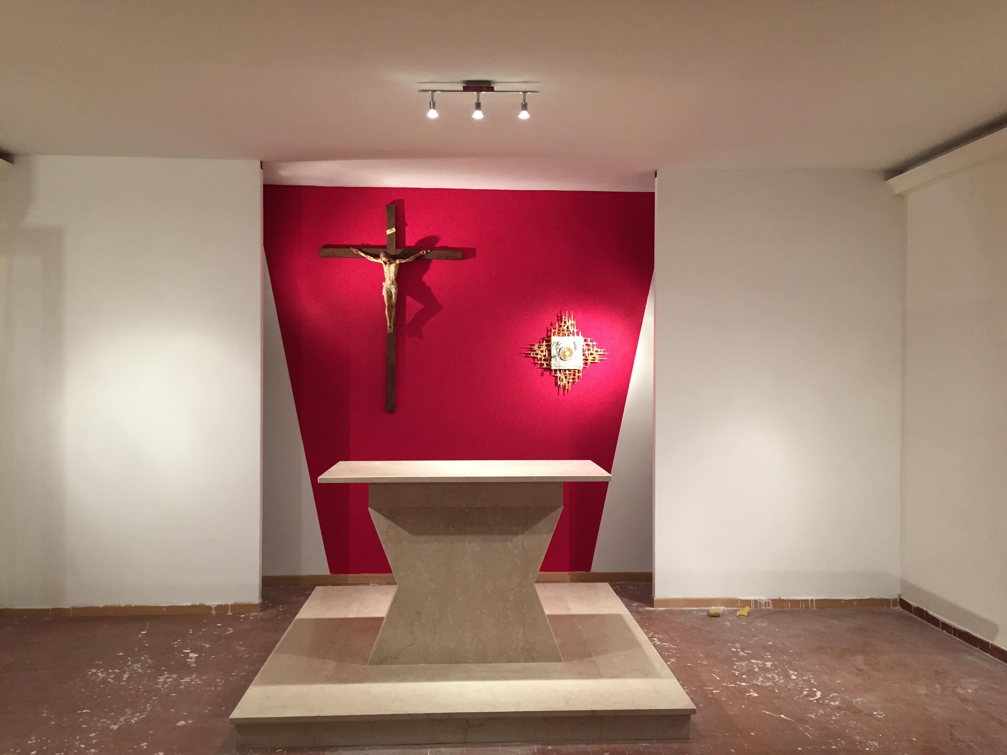 la chiesa appena terminata la prima fase di lavori di ristrutturazione