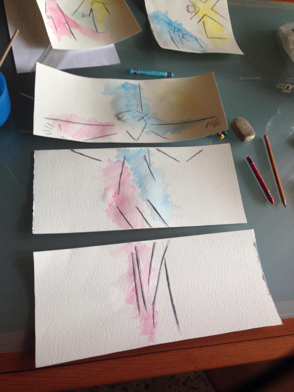 lavori di preparazione della Via Crucis di Serena Amendola
