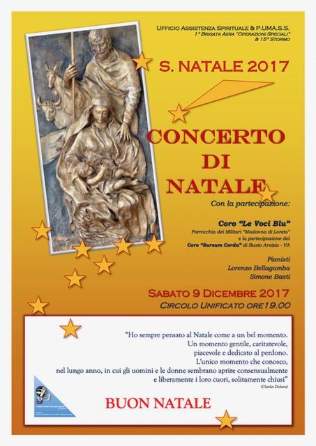 Locandina Concerto di Natale 2017