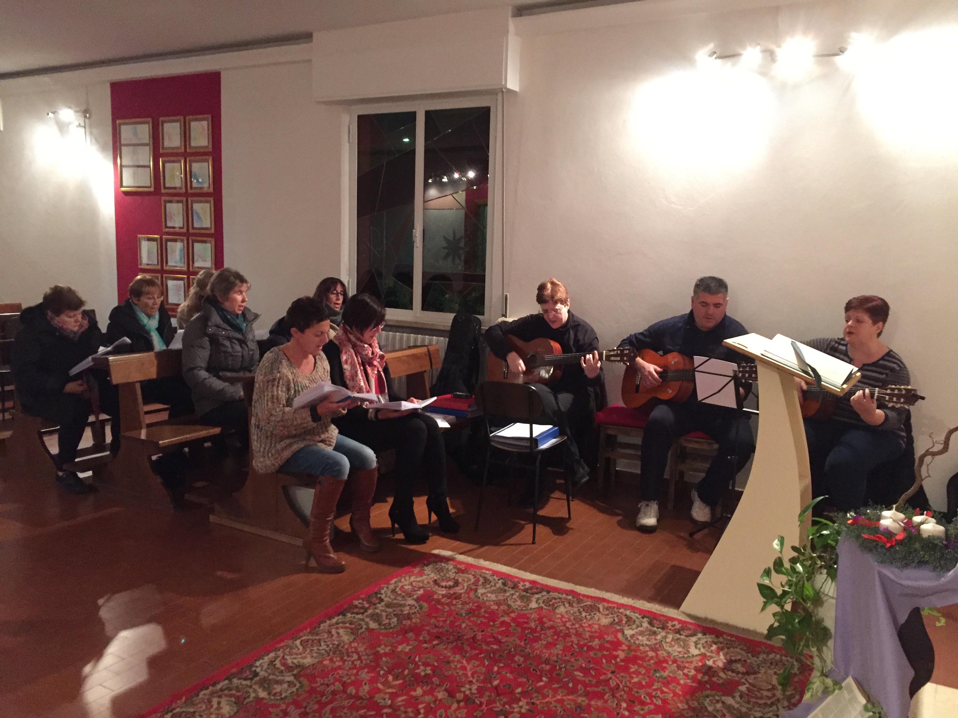 Prove coro con gli amici del Coro Sursm Corda
