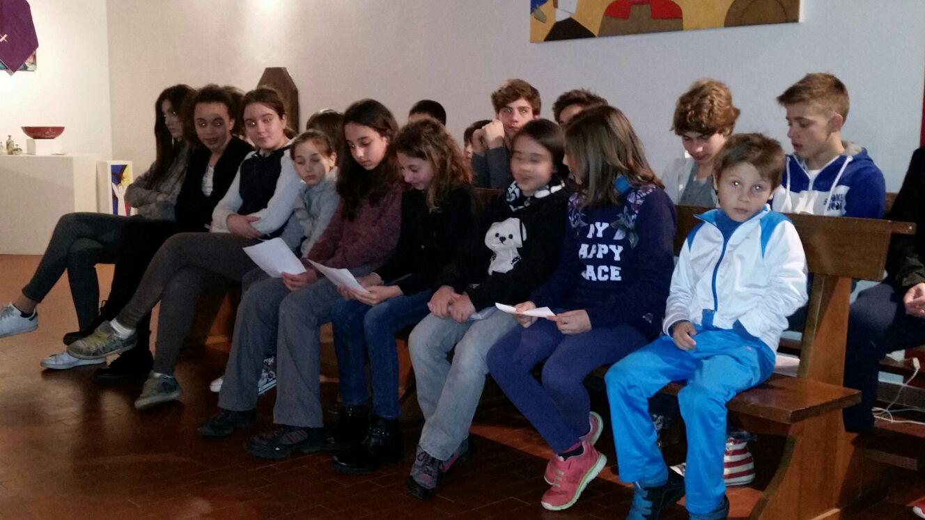 incontro con i ragazzi del catechismo