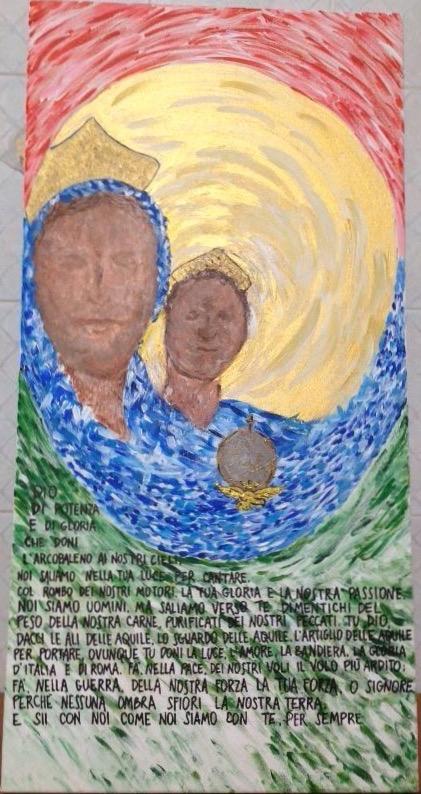 Madonna di Loreto quadro di Serena Amendola regalo alla Famiglia Massimetti
