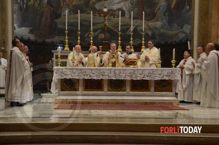 La messa di precetto pasquale  2015 a Forlì