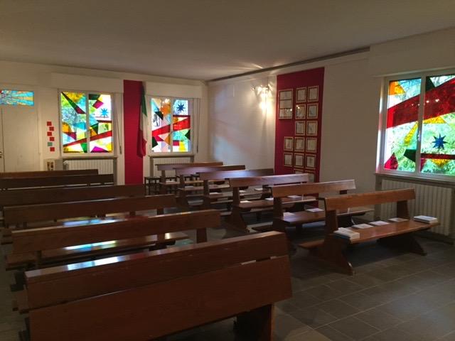 interno la chiesa lavori pavimento terminati