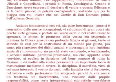 Paolo VI ai militari - 1
